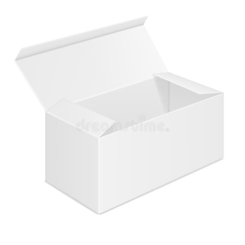 Vector realistisch beeld van open rechthoekig document vakje stock illustratie