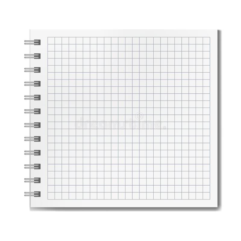 Vector realistisch beslist vierkant notitieboekjemodel royalty-vrije illustratie