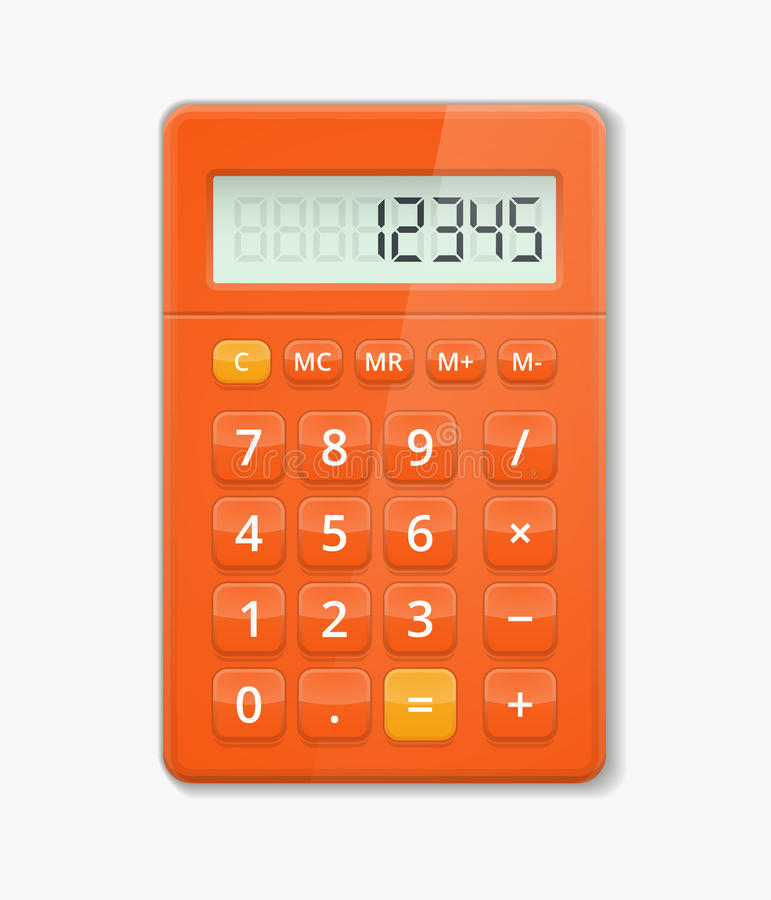 Vector realistische calculator stock illustratie