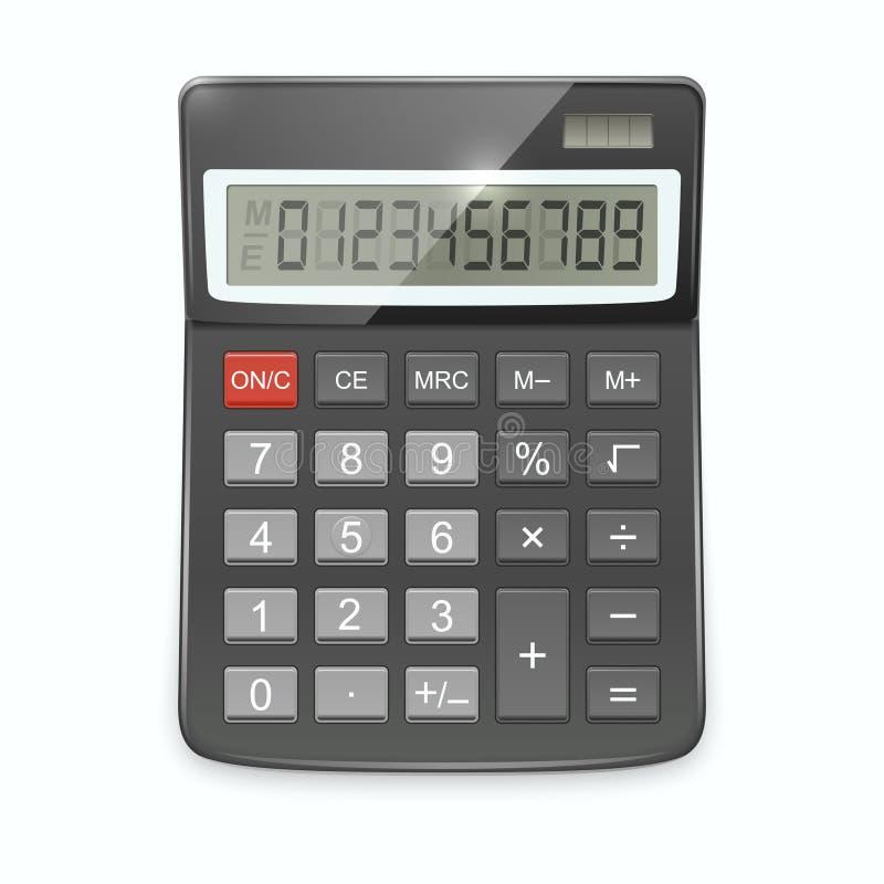 Vector realistische calculator op witte achtergrond stock illustratie