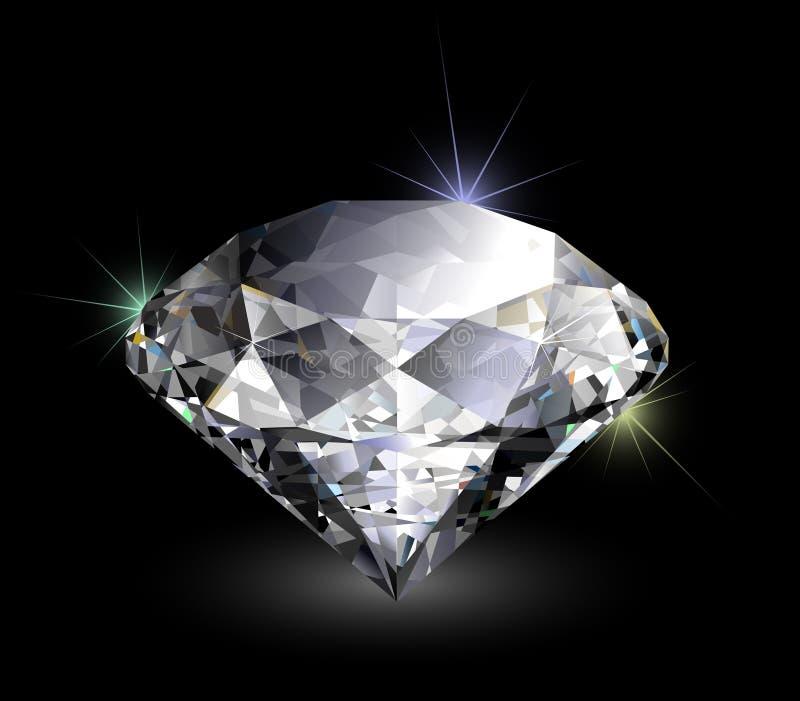 Vector realistische diamant vector illustratie