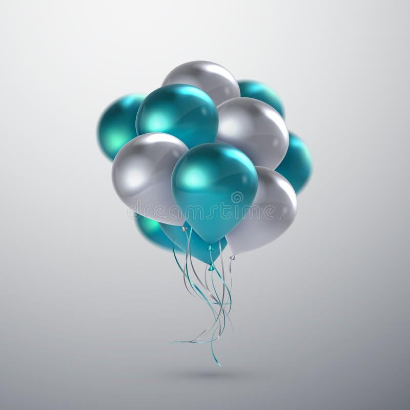 Vector realistische glanzende ballons royalty-vrije illustratie