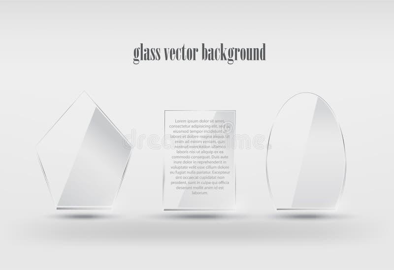 Vector realistische transparante glasvormen royalty-vrije illustratie