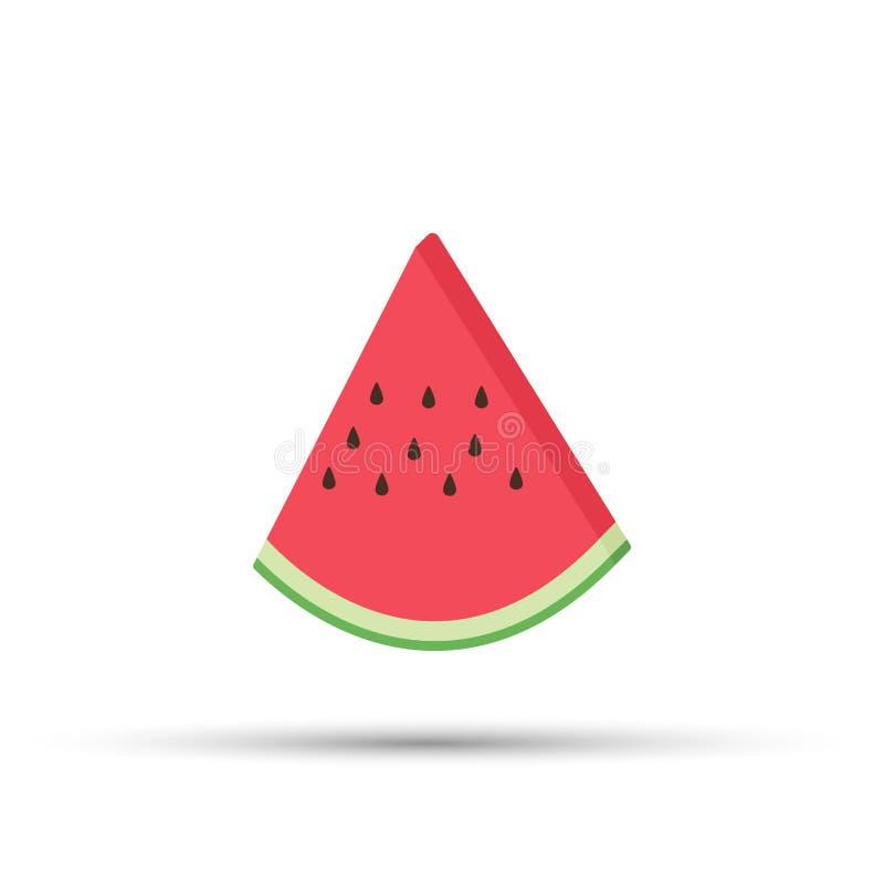 Vector realistische watermeloenplak Sappig en kleurrijk de zomerfruit stock illustratie