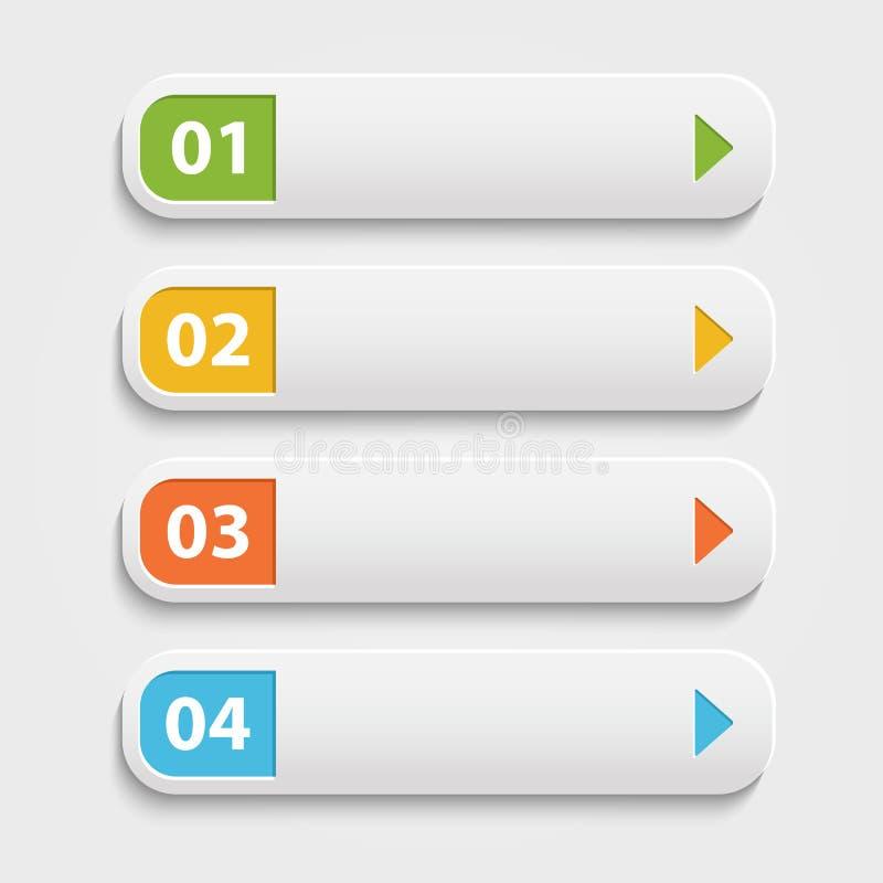 Vector realistische Webknopen, infographic met vector illustratie