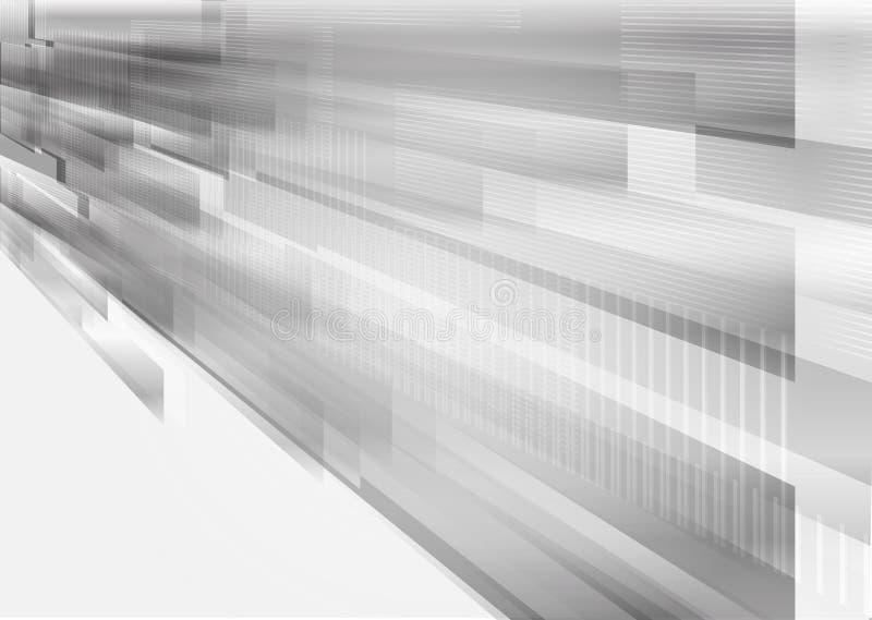 Vector rechthoekige vorm en rechte lijn de grijze, geometrische abstracte achtergrond van het overlappings moderne ontwerp vector illustratie