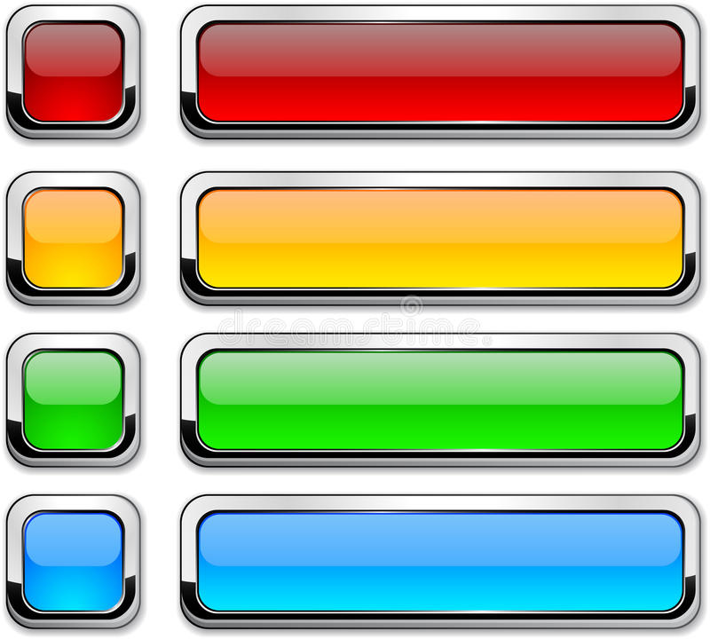 Download Vector Rectangular Buttons On White. Stock Vector - Image: 18533625