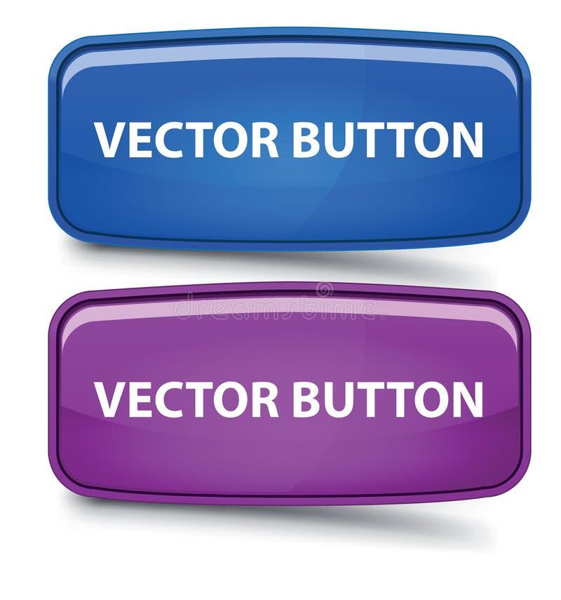 Vector Rectangular Glass Button Stock Photos