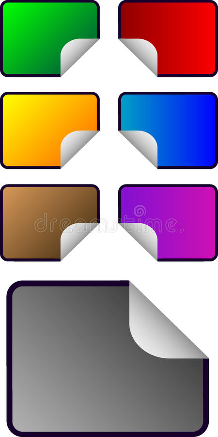 Download Vector Rectangular Shaped Stickers Stock Illustration - Image: 9632687