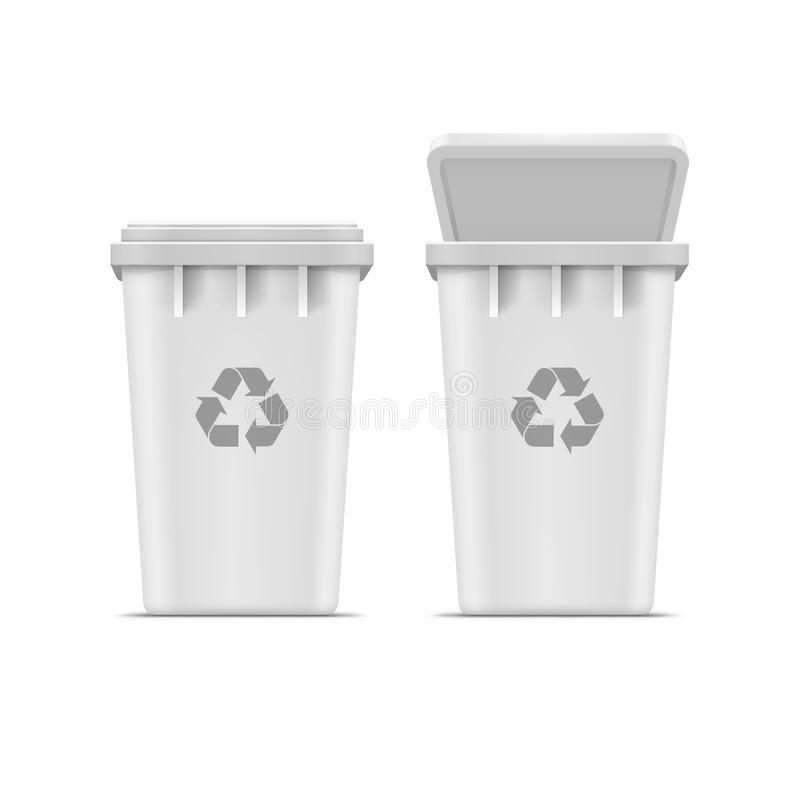 Vector Recycle Bin for Trash and Garbage Isolated. On White Background royalty free illustration