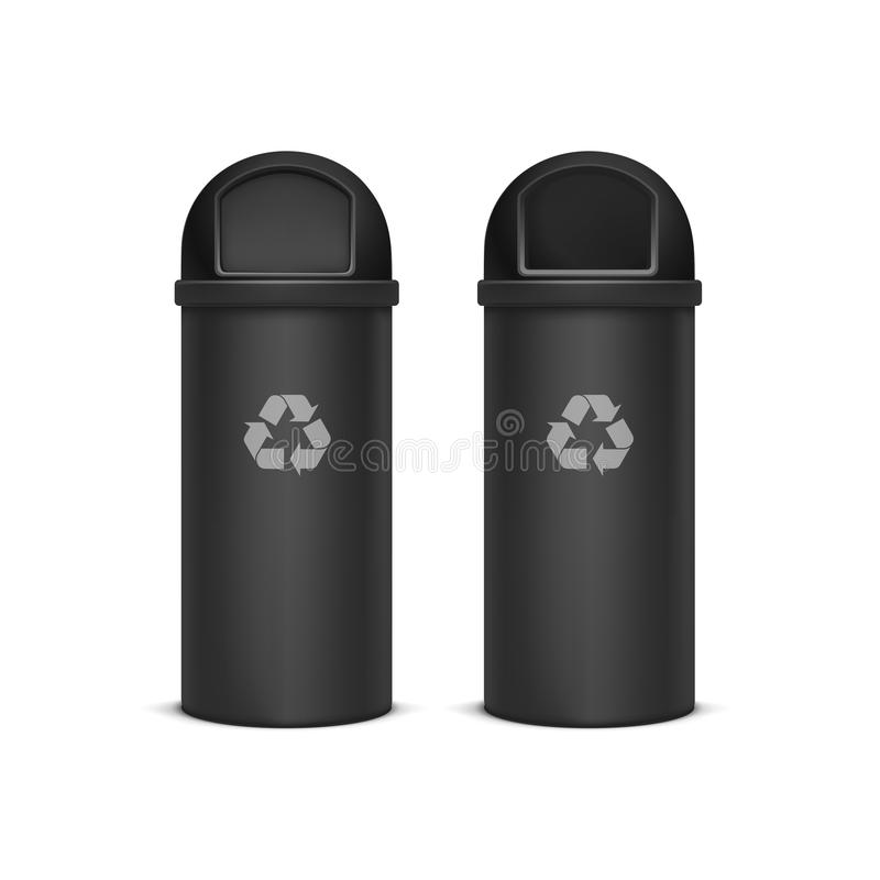 Vector Recycle Bins for Trash and Garbage Isolated. On White Background royalty free illustration