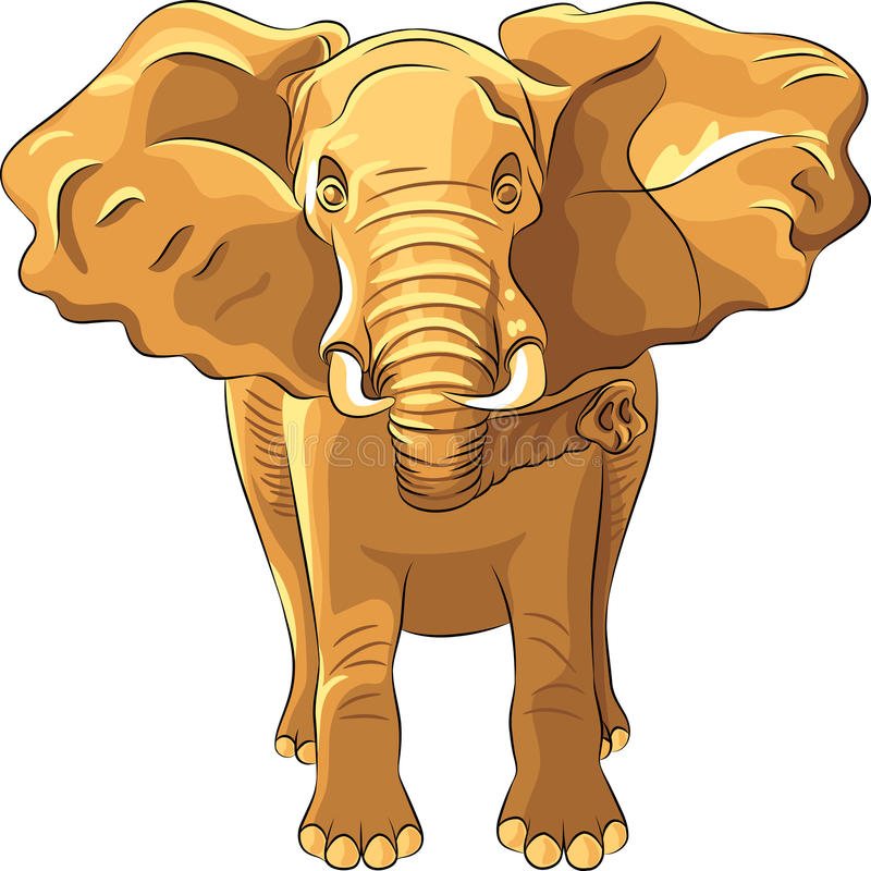 vector Red African elephant royalty free stock images