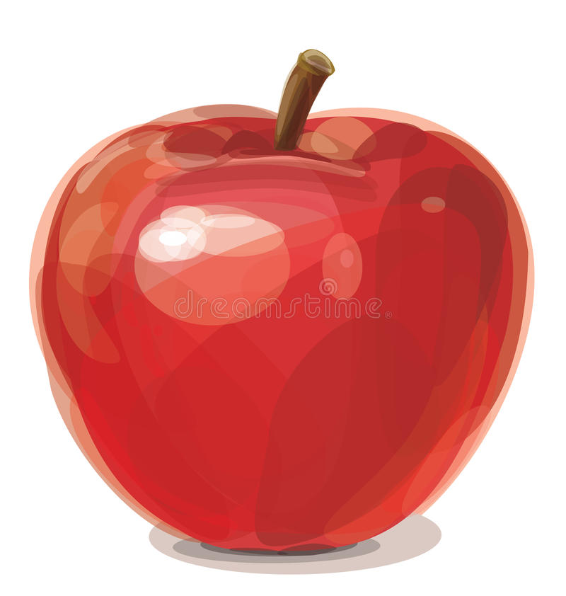 Download Vector of red apple. stock vector. Image of icon, healthy - 24029039