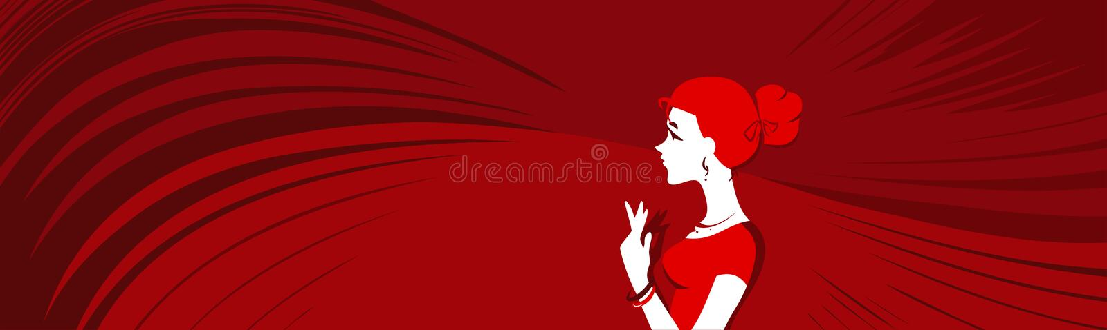Vector Red Banner Royalty Free Stock Images