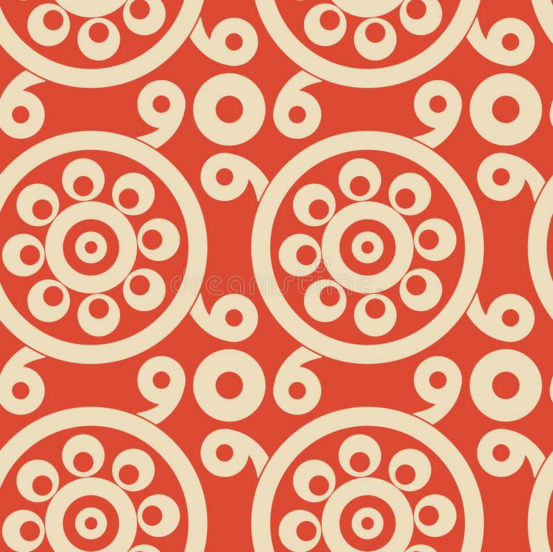Vector red and beige seamless pattern. Vintage stylish slavic ornament vector illustration