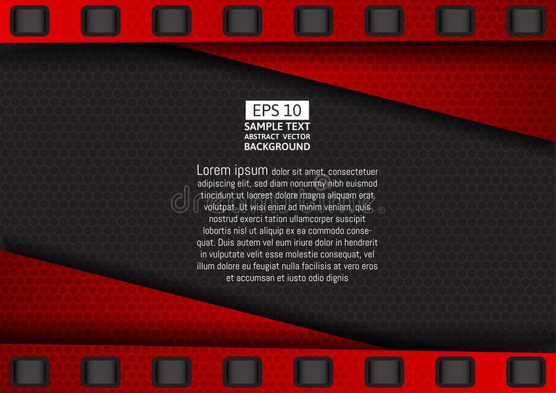 Vector Red and Black geometric background.  vector illustration