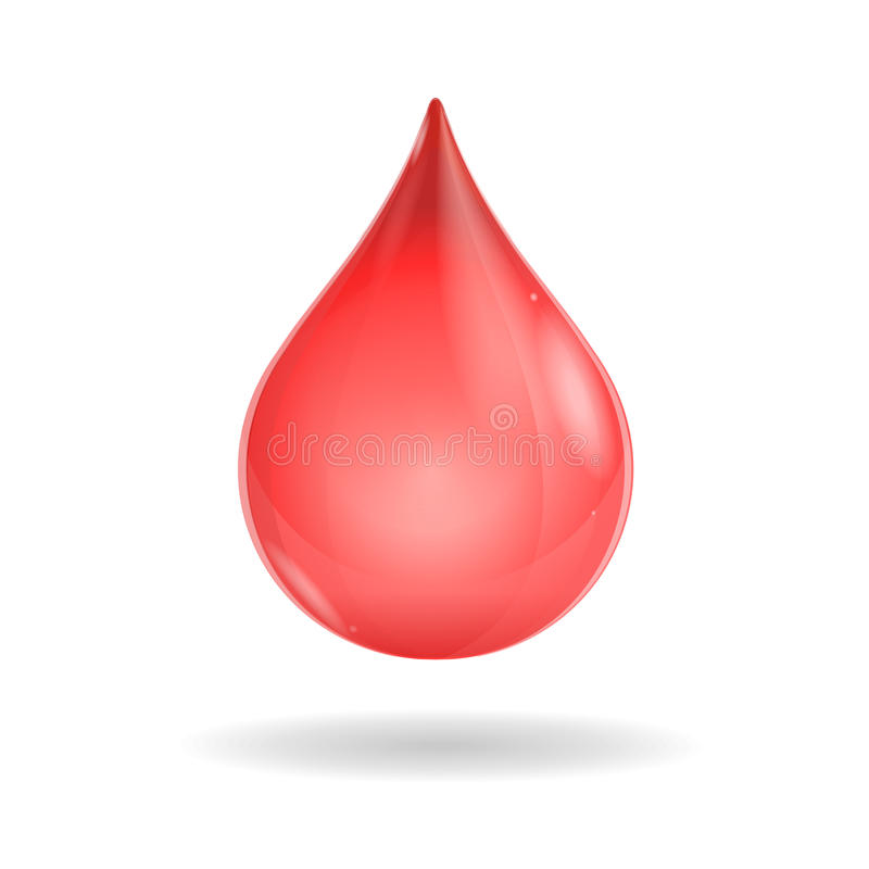 Vector red blood drop stock illustration