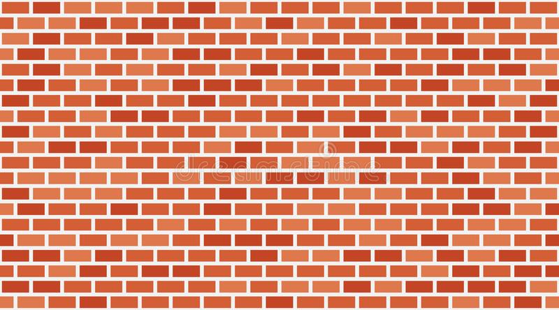 Vector red brick wall background. Old texture urban masonry. Vintage architecture block wallpaper. Retro facade room illustration stock illustration