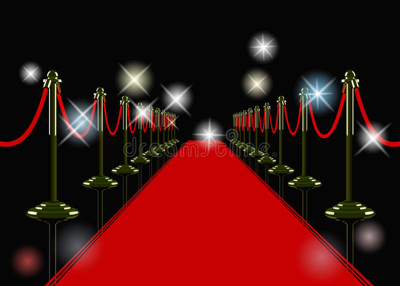 Download Vector red carpet stock vector. Image of hollywood, isolated - 29515773