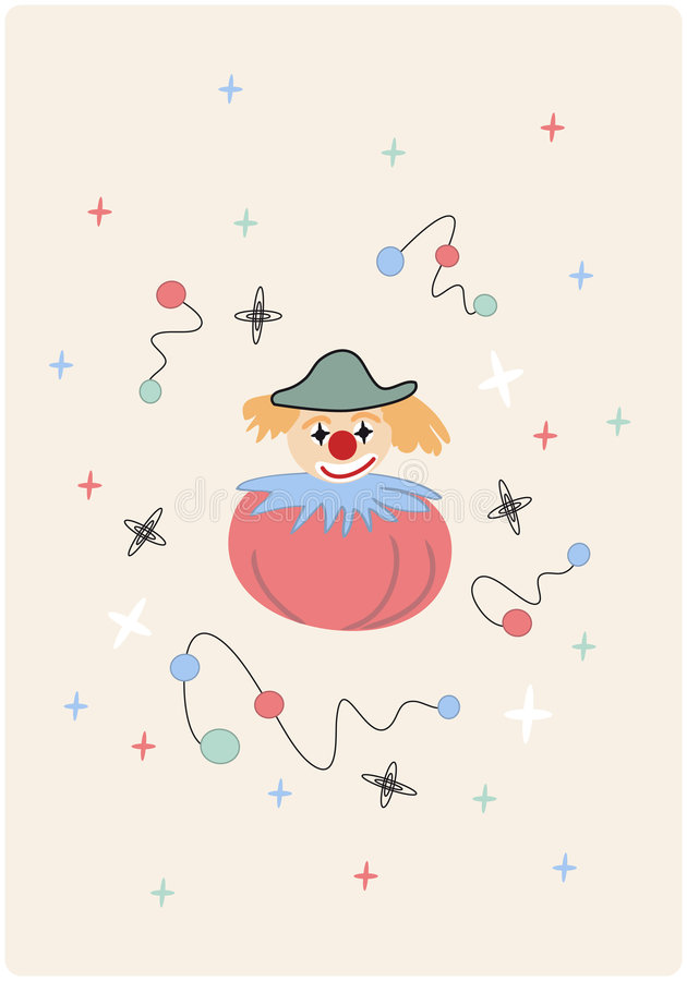 Vector With Red Clown Stock Images