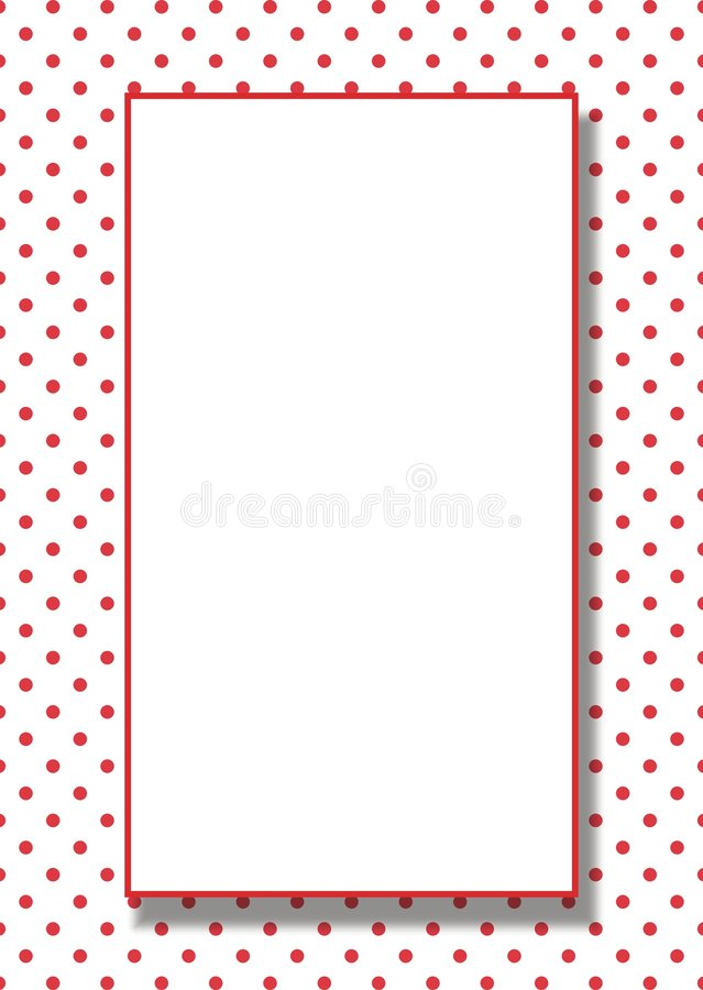 Free Vector Red Dots Frame Background Stock Images - 647614