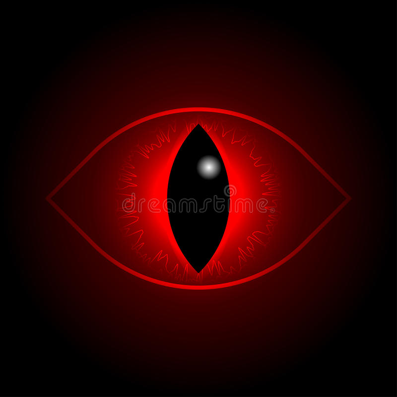 Vector red dragon eye. royalty free illustration