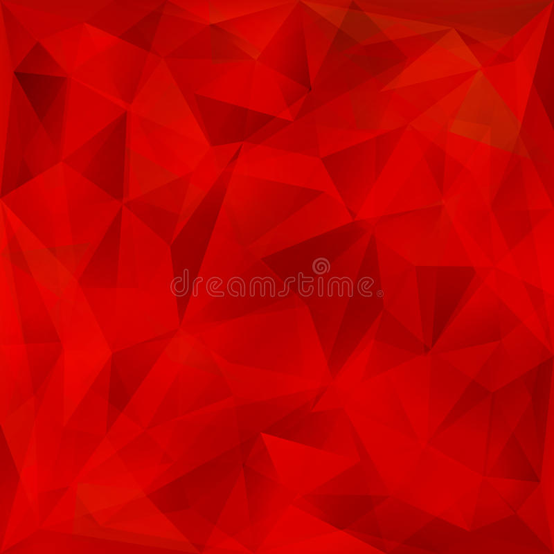 Vector red geometric background royalty free illustration