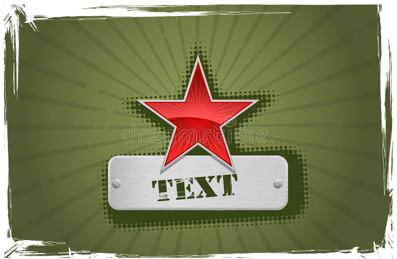Vector red and green star frame stock illustration