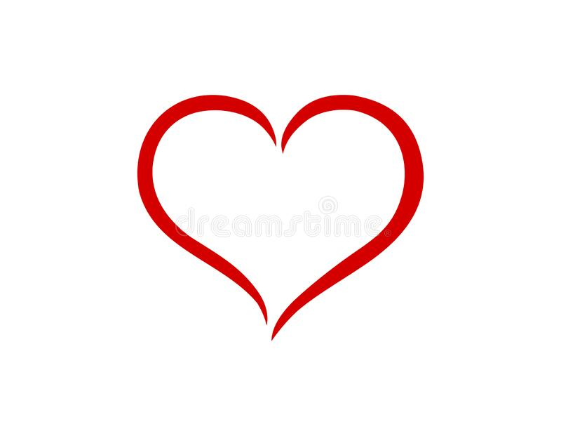 Download Red Outline Heart PNG Image for Free