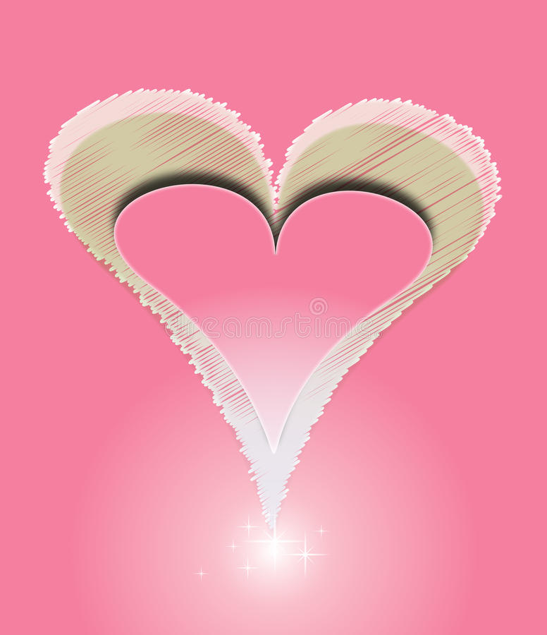 Download Vector Red Love Heart With Shine Pink Background Stock Vector - Image: 17779127