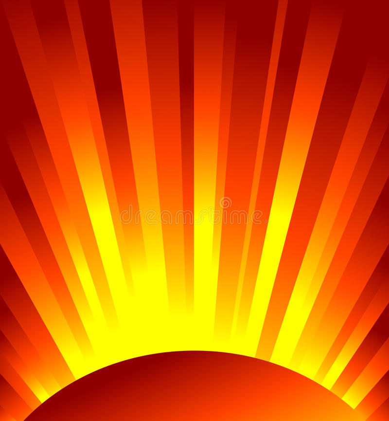 Vector red rays of light royalty free illustration