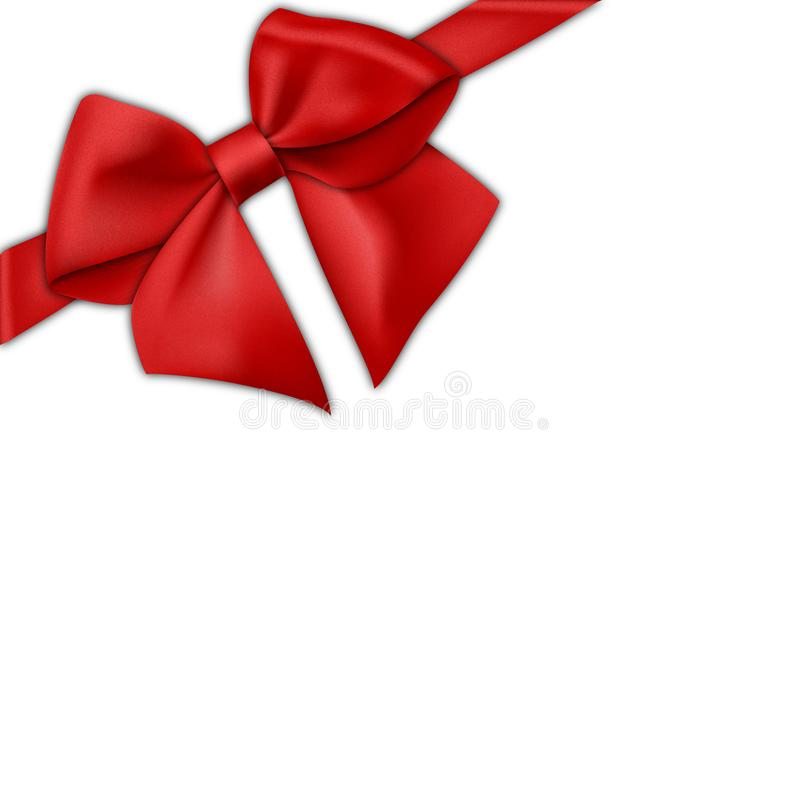 Vector red ribbon bow royalty free stock images