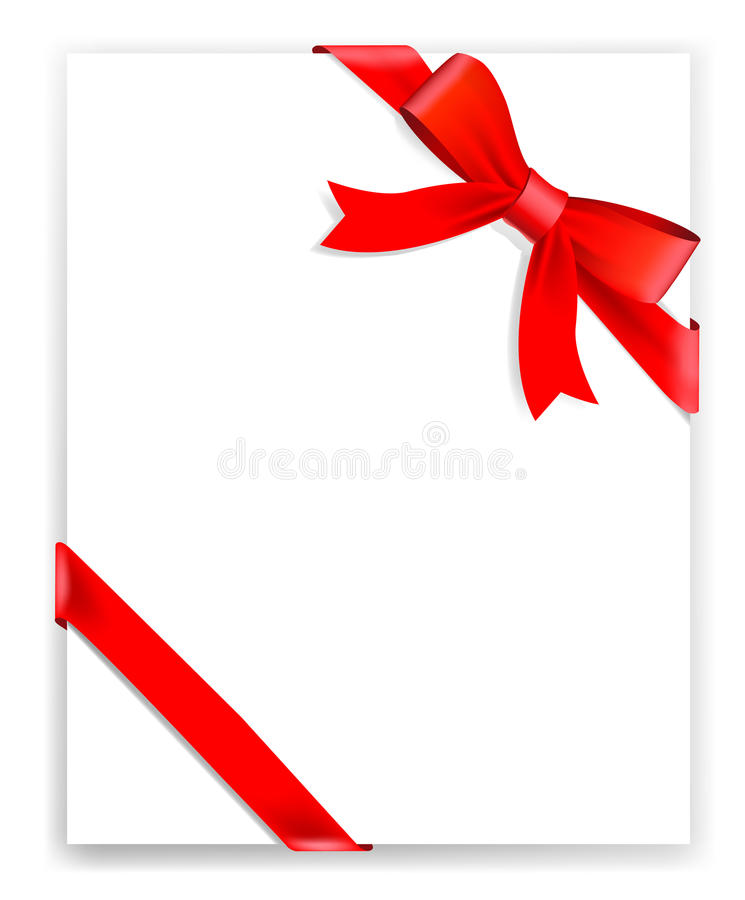 Free Vector Red Tape And Bow Royalty Free Stock Image - 13074046