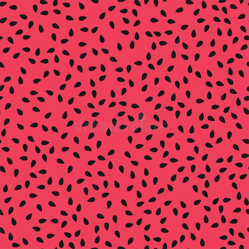 Vector red watermelon seamless pattern royalty free stock photo