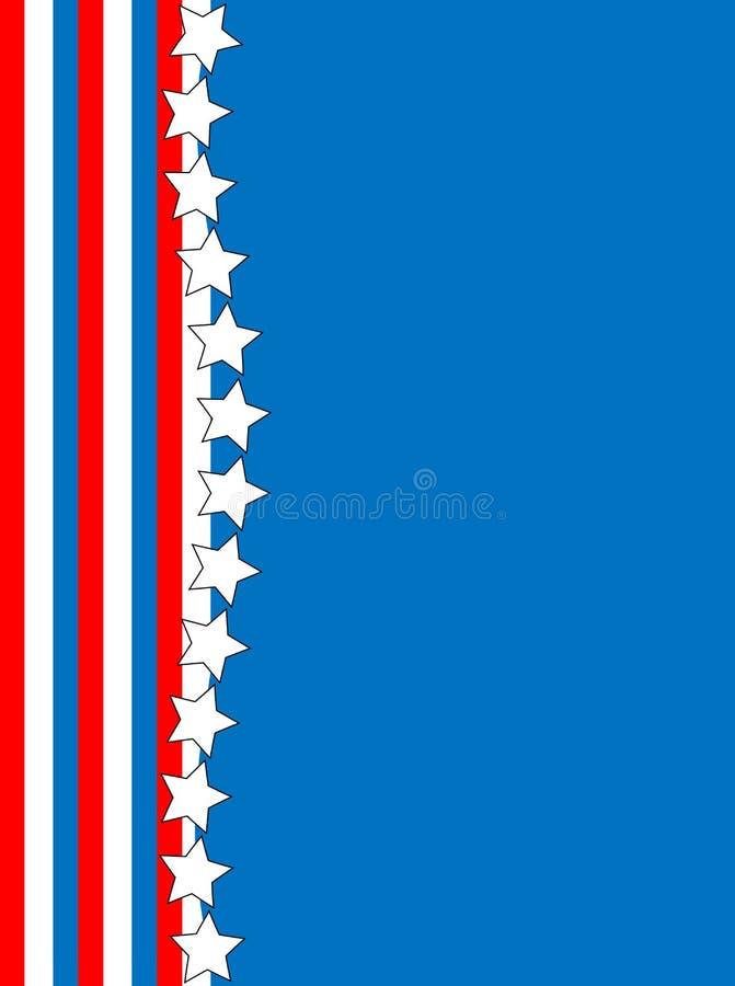 Vector Red White Blue Star Striped Background stock illustration