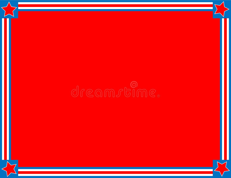 Vector Red White Blue Star Striped Background stock image