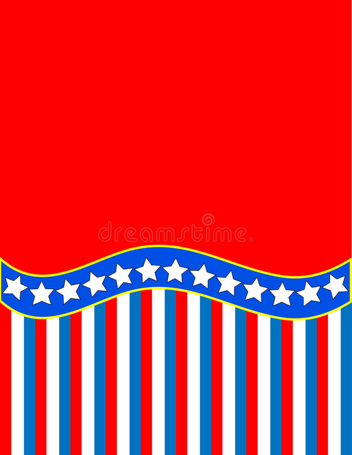 Vector Red White Blue Star Striped Background stock photography