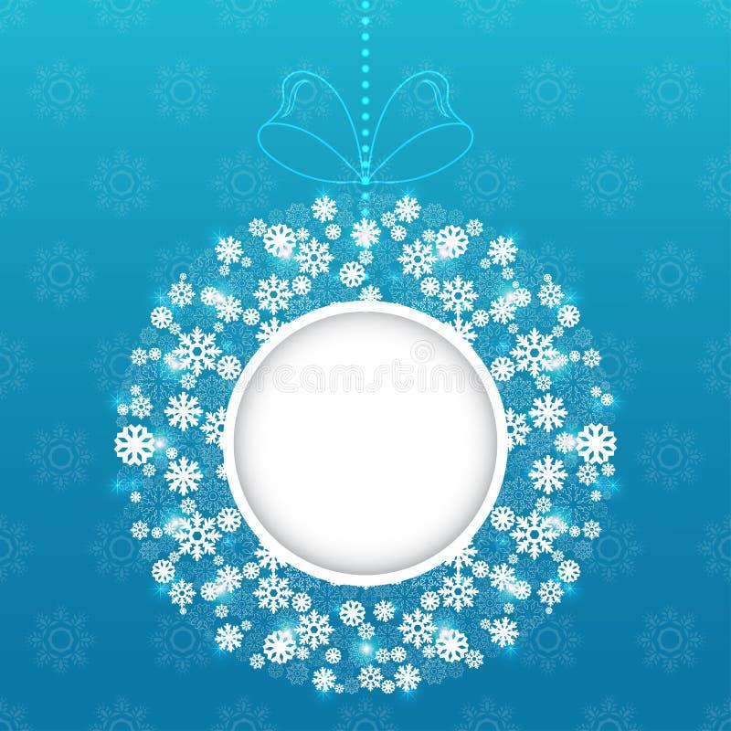Vector redondo del marco de la Navidad stock de ilustración