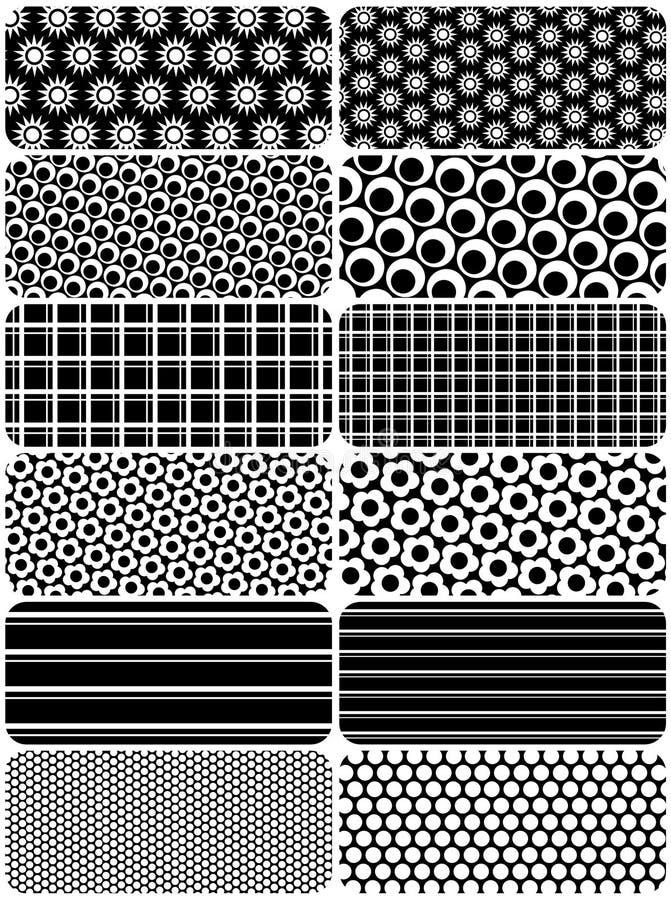 Vector reeks achtergronden b&w royalty-vrije illustratie