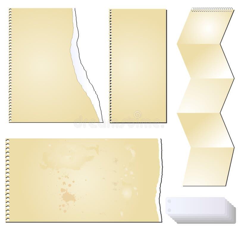 Het vector document van de grunge scrapbooking tablet royalty-vrije illustratie