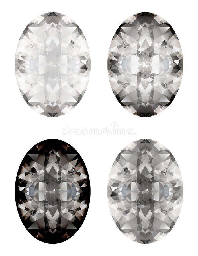 Vector reeks diamanten vector illustratie
