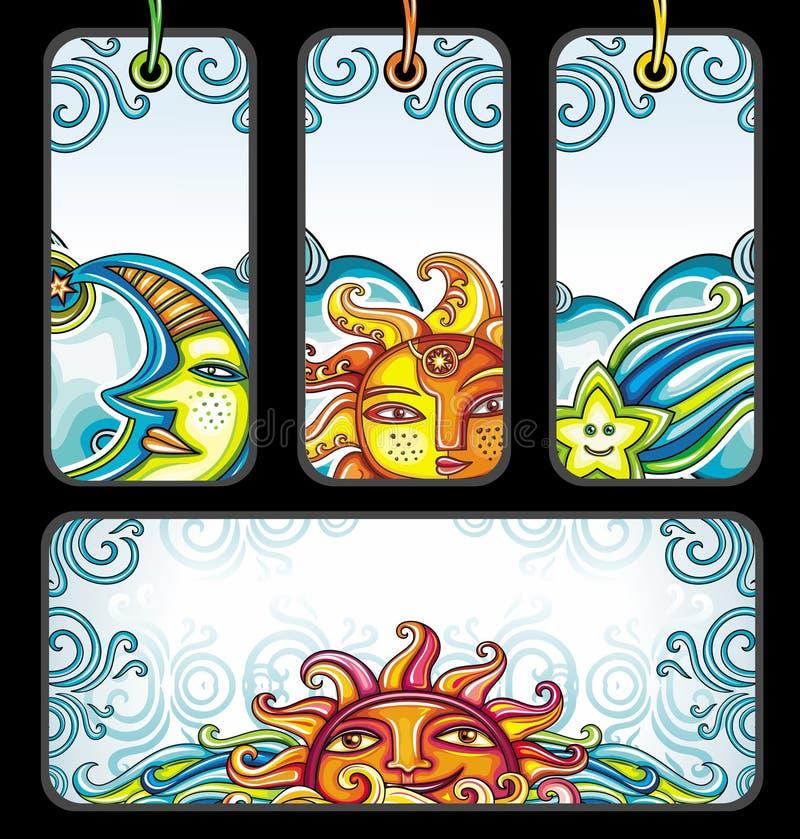 Vector reeks Hemelsymbolen royalty-vrije illustratie