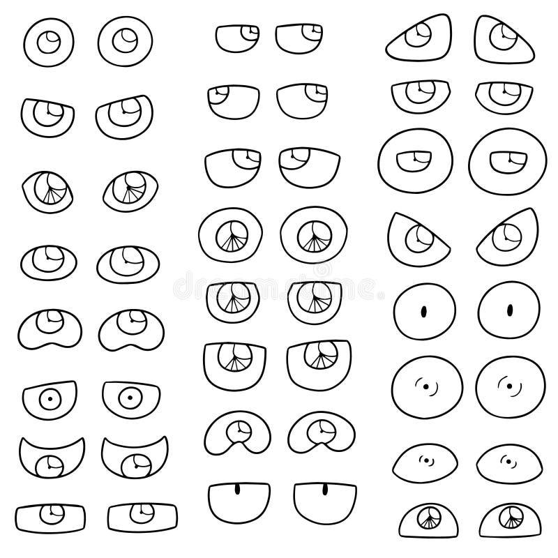 Vector reeks ogen royalty-vrije illustratie