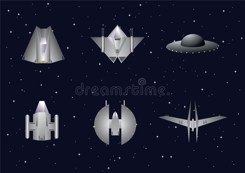 Vector reeks ruimteambachten royalty-vrije illustratie