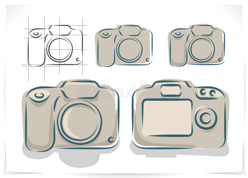 Vector regeling van fotocamera royalty-vrije illustratie
