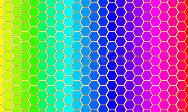 Vector regenbogenKaart van de wereld. royalty-vrije illustratie