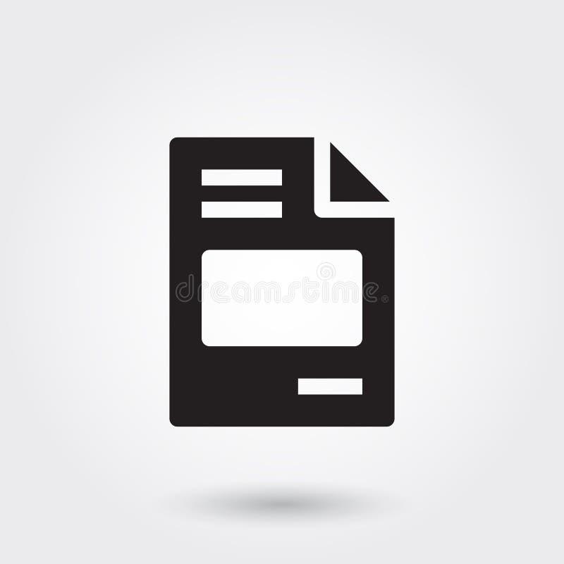 Vector, Rekening Bill Payment File Glyph Icon perfect voor website, mobiele toepassingen, presentatie royalty-vrije illustratie