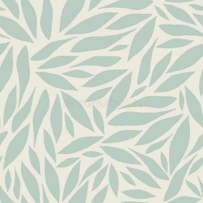 Abstract vector pattern with light green leaves stock photo