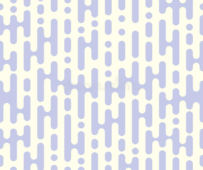 Vector repeatable halftone lines, rounded shapes. Seamless abstract stripes, monochrome overlay, pattern. Isolated background. stock illustration