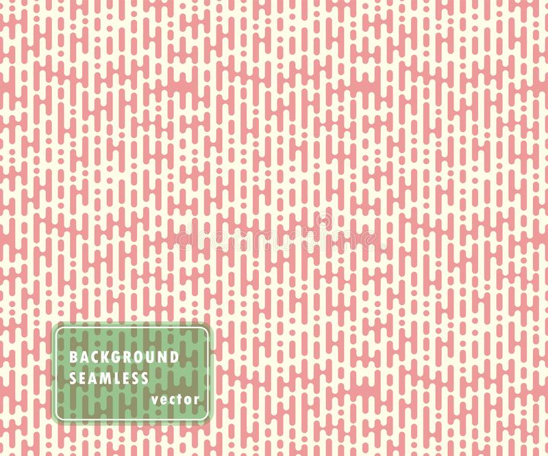 Vector repeatable halftone lines, rounded shapes. Seamless abstract stripes, monochrome overlay, pattern. Isolated background. vector illustration